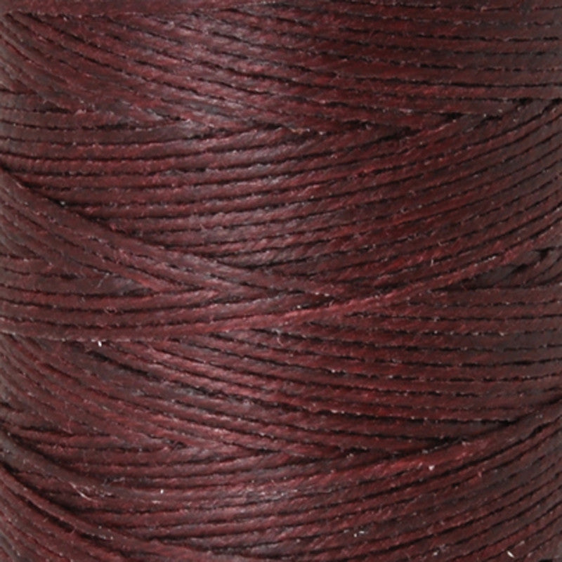 Supplies-3-Ply Waxed Irish Linen-Maroon
