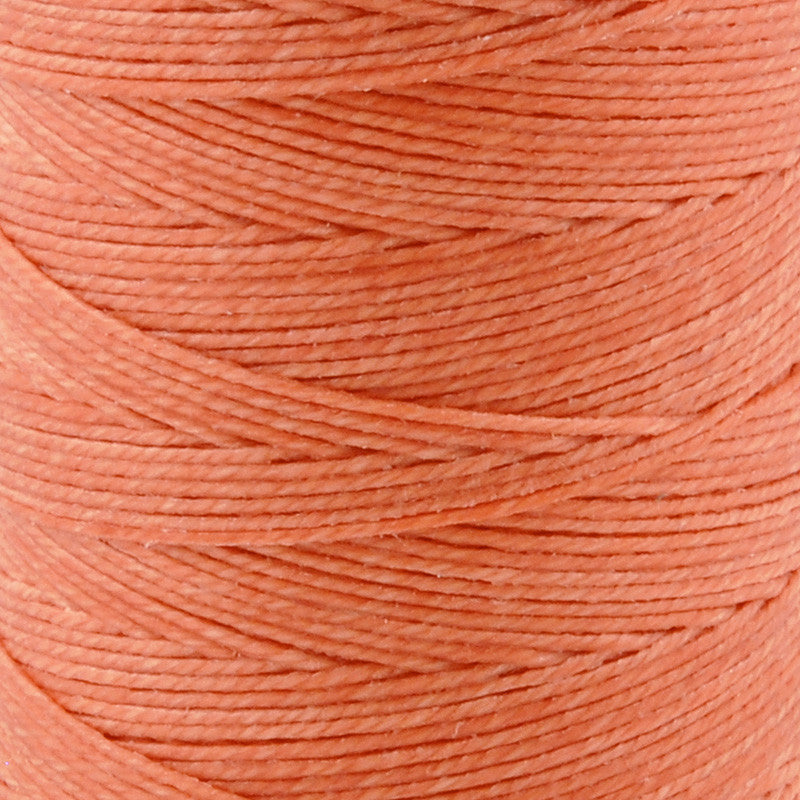 Supplies-3-Ply Waxed Irish Linen-Salmon