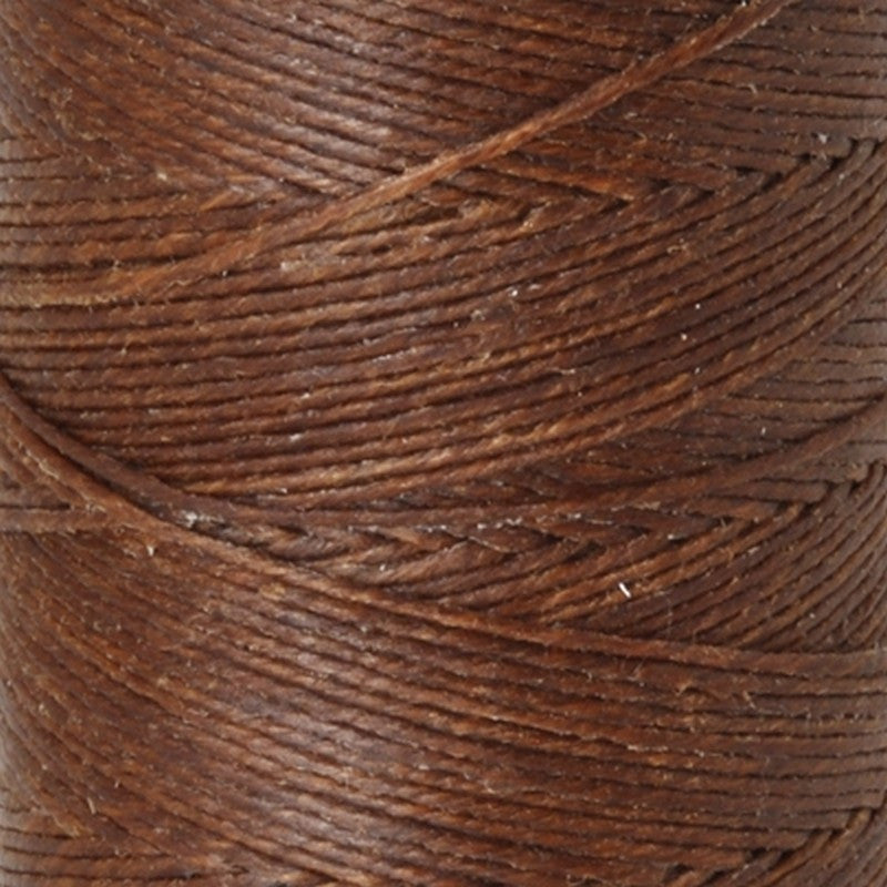 Supplies-3-Ply Waxed Irish Linen-Walnut Brown