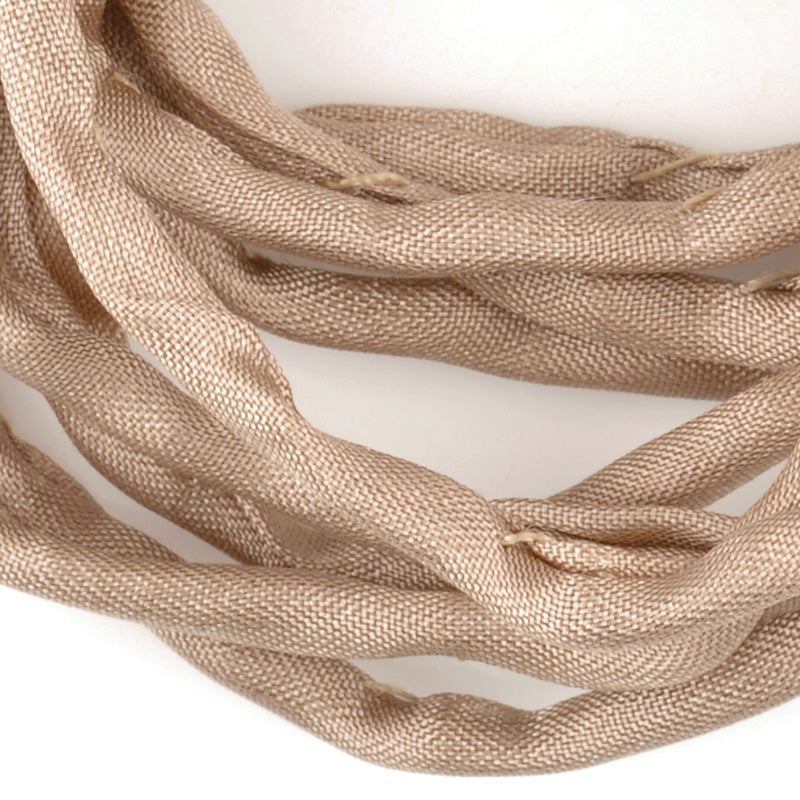Supplies-3mm Silk Cord-Habotai Foulard-Beige-1 Meter