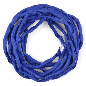 Supplies-3mm Silk Cord-Habotai Foulard-Dark Blue-1 Meter
