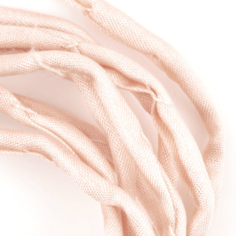 Supplies-3mm Silk Cord-Habotai Foulard-Light Pink-1 Meter