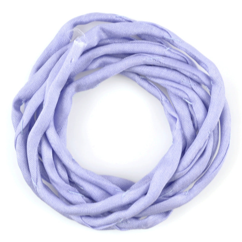 Supplies-3mm Silk Cord-Habotai Foulard-Lilac-1 Meter