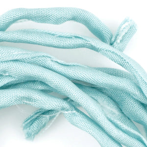 Supplies-3mm Silk Cord-Habotai Foulard-Turquoise-1 Meter