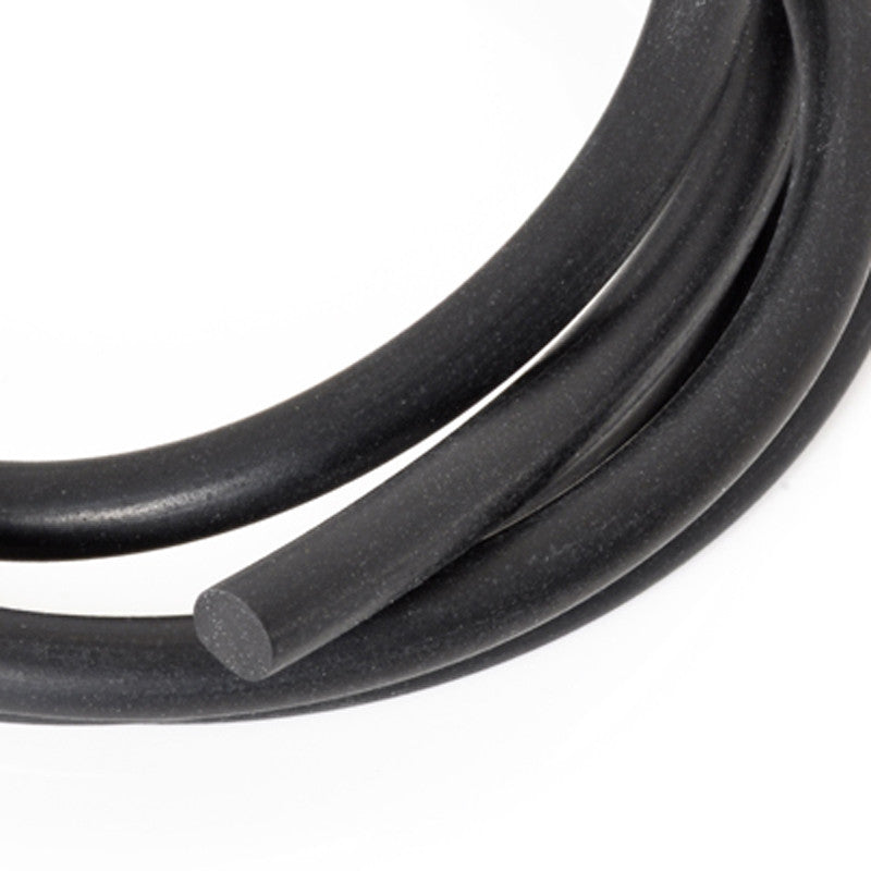 Supplies-4.8mm Rubber Cording-Black-Solid Core