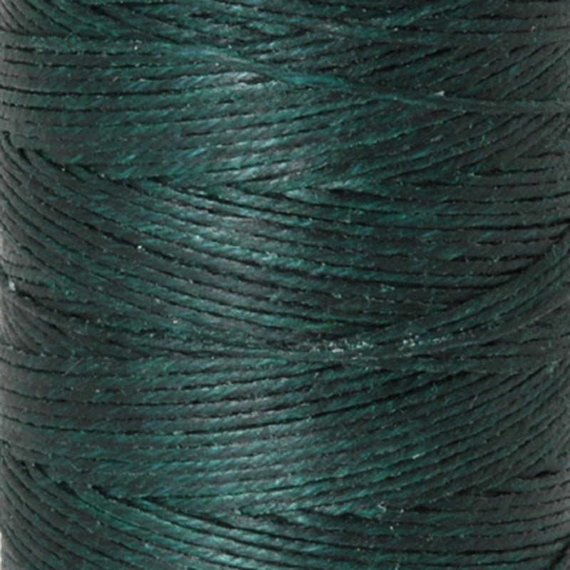 Supplies-4-Ply Waxed Irish Linen-Dark Forest Green