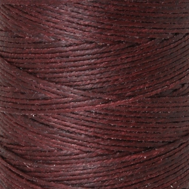 Supplies-4-Ply Waxed Irish Linen-Maroon-100 Yard Spool