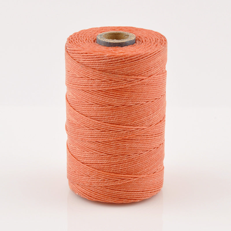 Supplies-4-Ply Waxed Irish Linen-Salmon