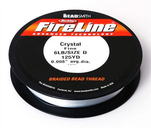 Supplies-6Lb. Fireline Thread-Crystal-125 Yards