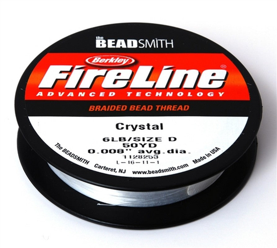 Supplies-6Lb. Fireline Thread-Crystal-50 Yards