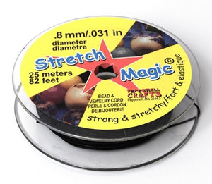 Supplies-.8mm Stretch Magic Cord-Black-25 Meters