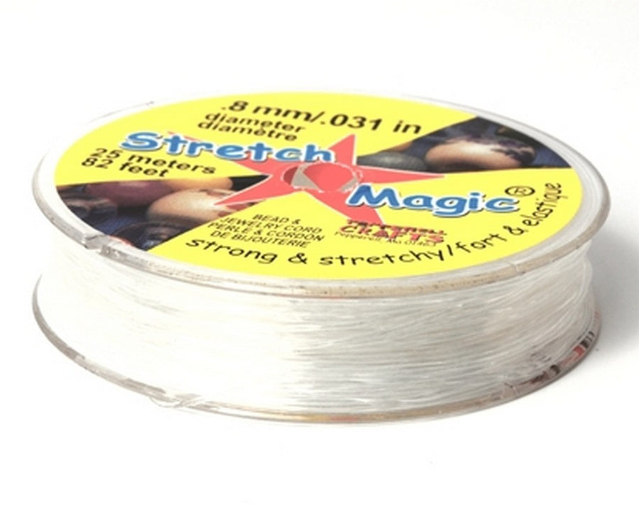 Supplies-0.8mm Stretch Magic Cord-Clear-25 Meters