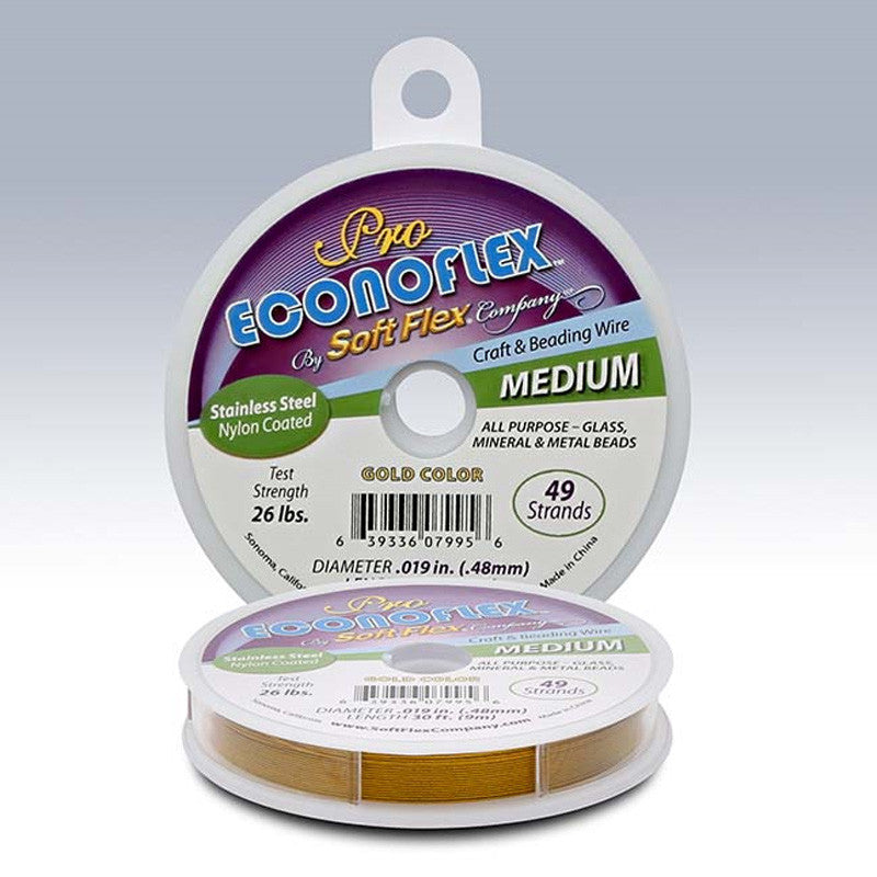 "Supplies-Beading Wire-Pro Econoflex™ 49-Strand Gold .019"" Beading Wire"