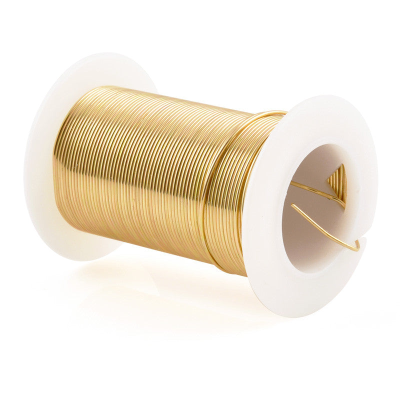 Supplies-Craft Wire-20 Gauge-Gold-15 Yards