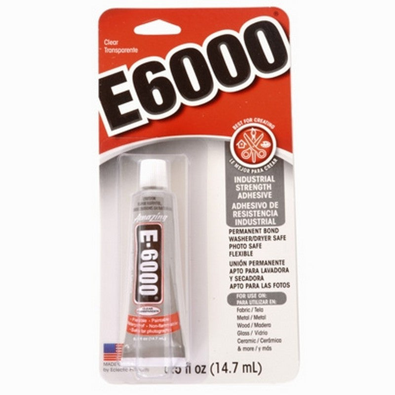 Supplies-E6000 Glue Adhesive-.5 Ounce Tube-Quantity 1