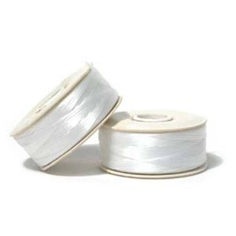 Supplies-Nymo Thread-White-Size O-115 Yard Bobbin