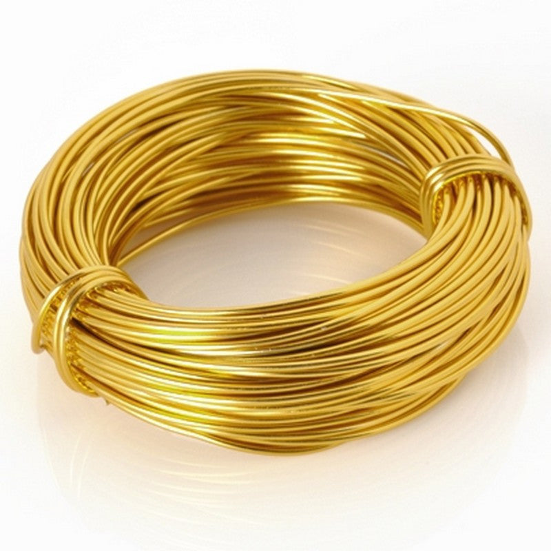 Supplies-Wire-Aluminum-18 Gauge Gold-39 Foot Coil