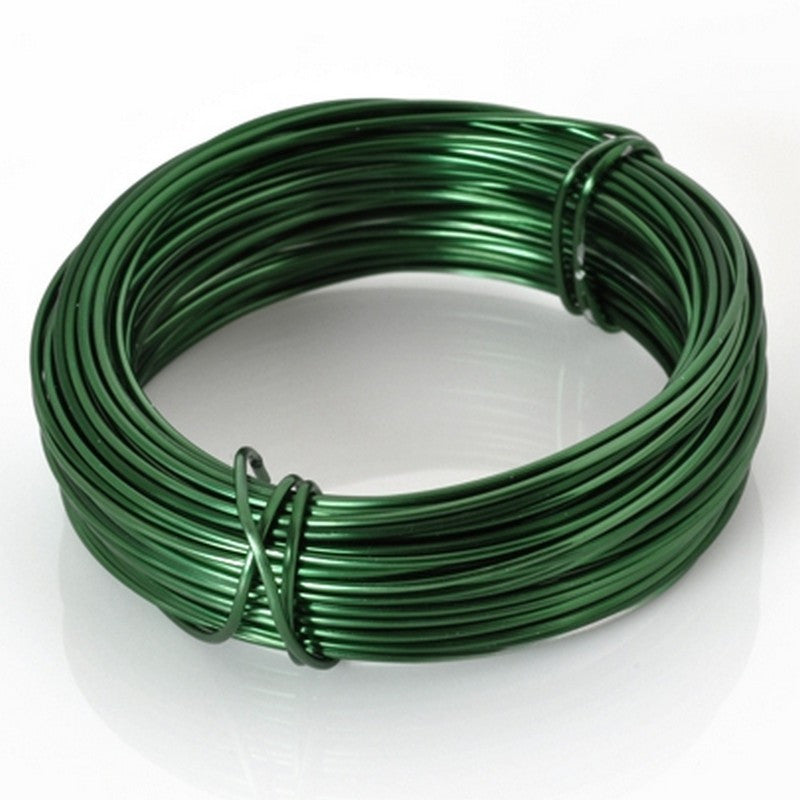 Supplies-Wire-Aluminum-18 Gauge Green-39 Foot Coil