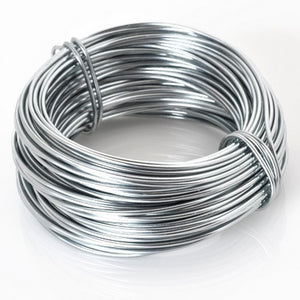 Supplies-Wire-Aluminum-18 Gauge Grey-39 Foot Coil