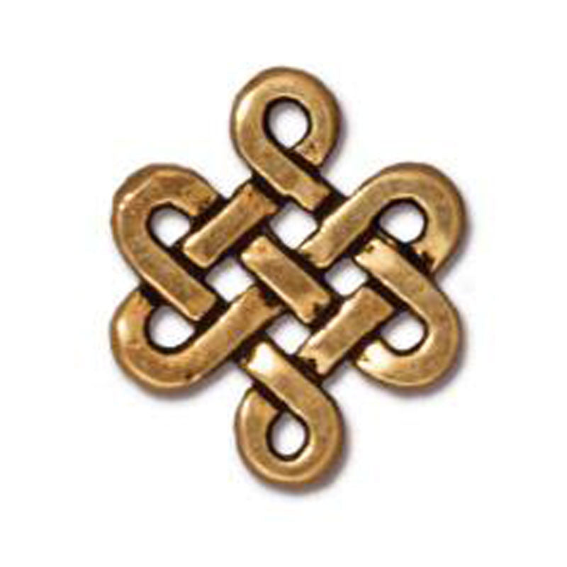 TierraCast-Pewter-11x10mm Small Eternity Link-Antique Gold