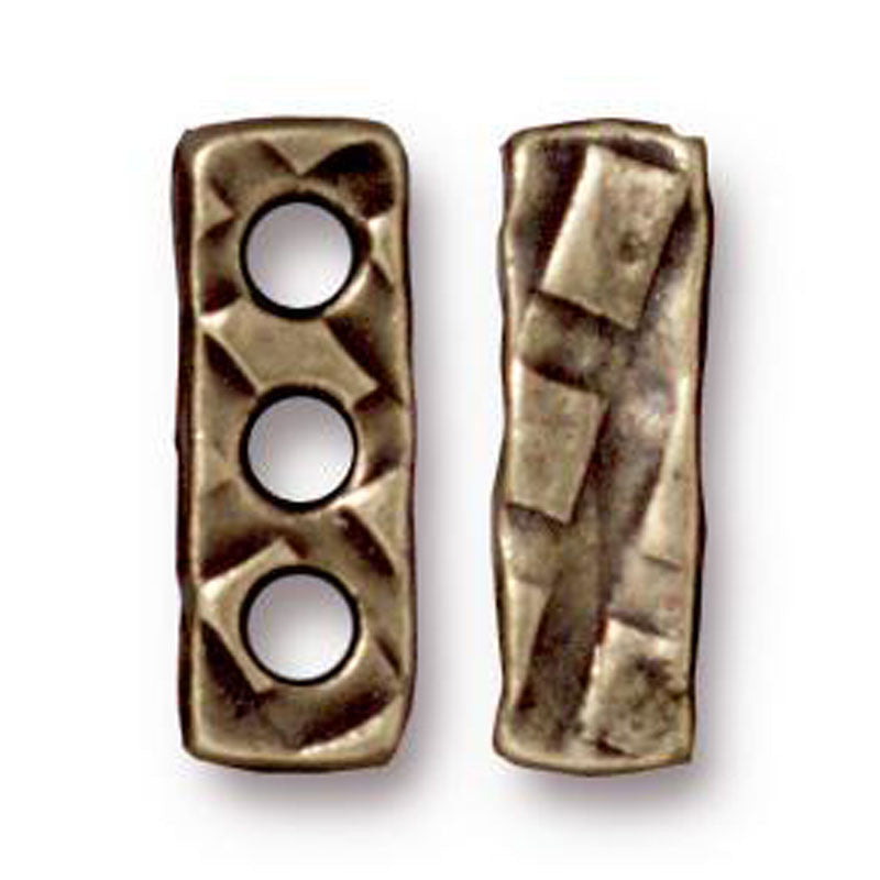 TierraCast-Pewter-14x4mm 3 Hole Bar