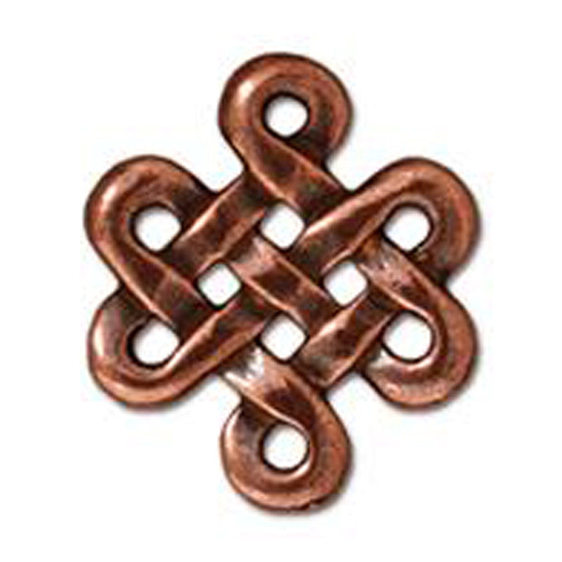 TierraCast-Pewter-17x14mm Eternity Link-Antique Copper