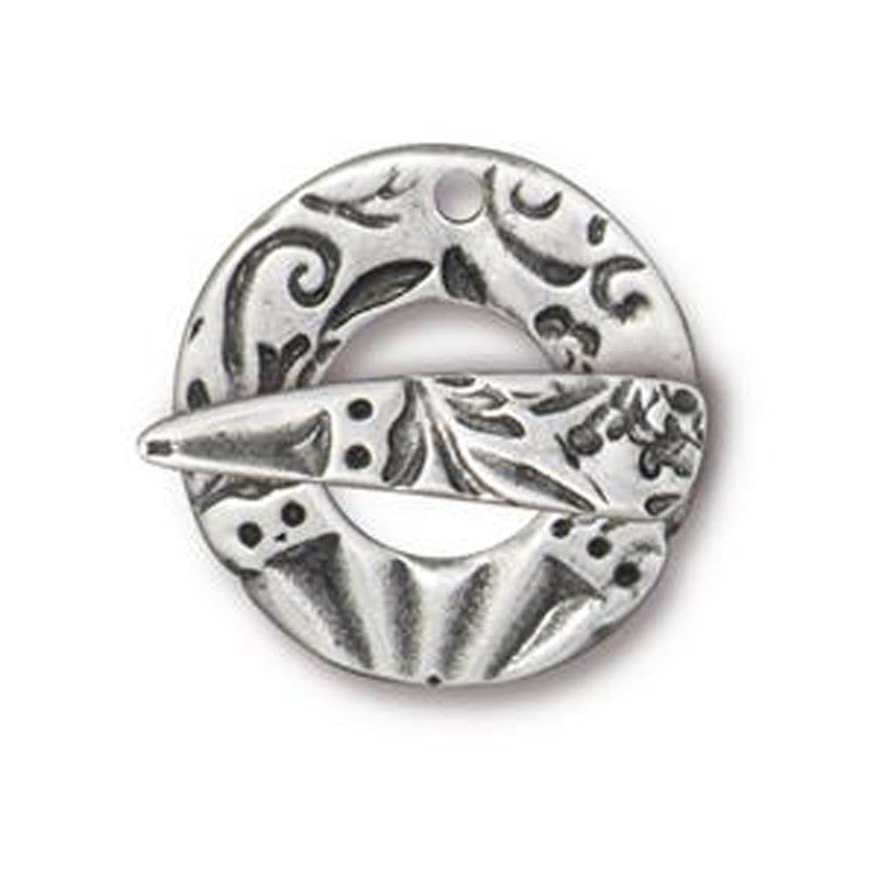 TierraCast-Pewter-20x22mm Flora Clasp Toggle Set