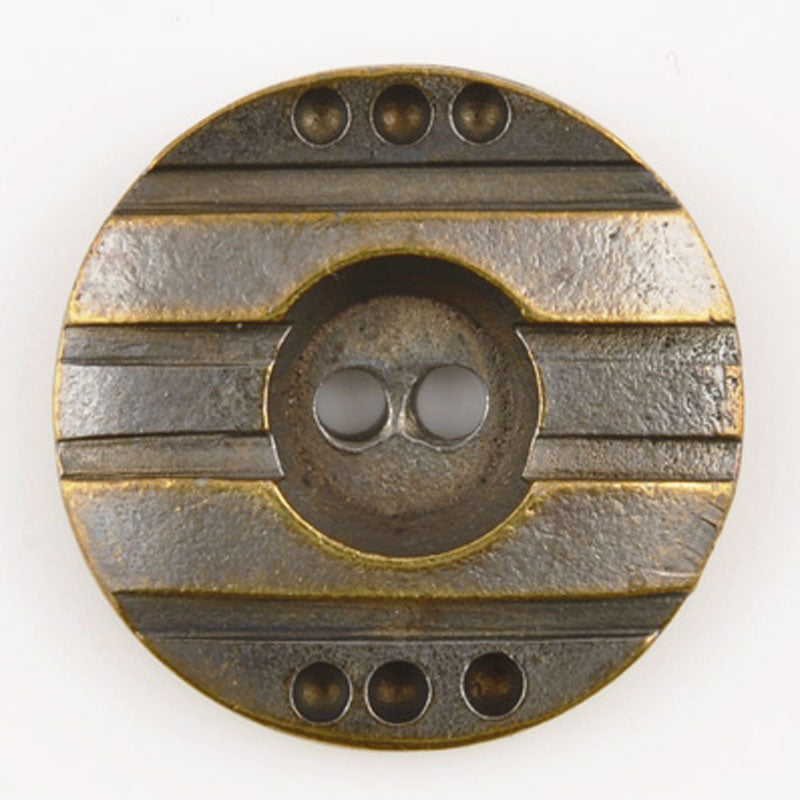 Buttons-25mm Round Casting-Antique Bronze