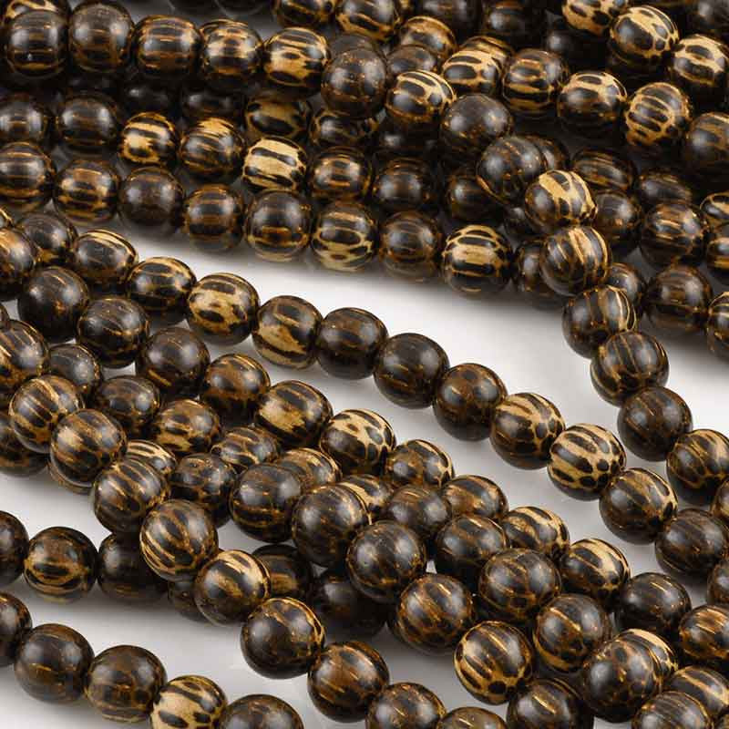 Wood-8mm Patikan Bead-16 Inch Strand