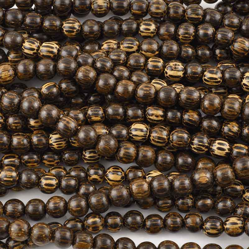 Wood-10mm Patikan Bead-16 Inch Strand
