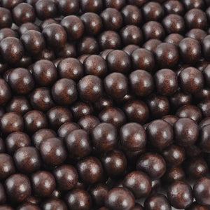 Wood Beads-10mm Round-Chocolate