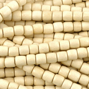 Wood Beads-6mm Tube-Whitewood