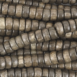 Wood Beads-8x3.5mm Pucalet Rondelle-Greywood