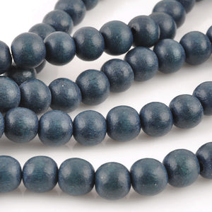 Wood Beads-Round-Distance-16 Inch Strand
