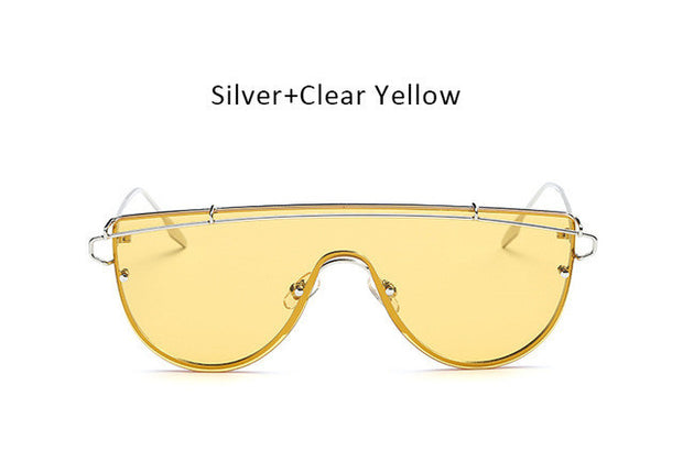Oversized Women Flat Top Sunglasses,UV400 - The 24/7 Store
