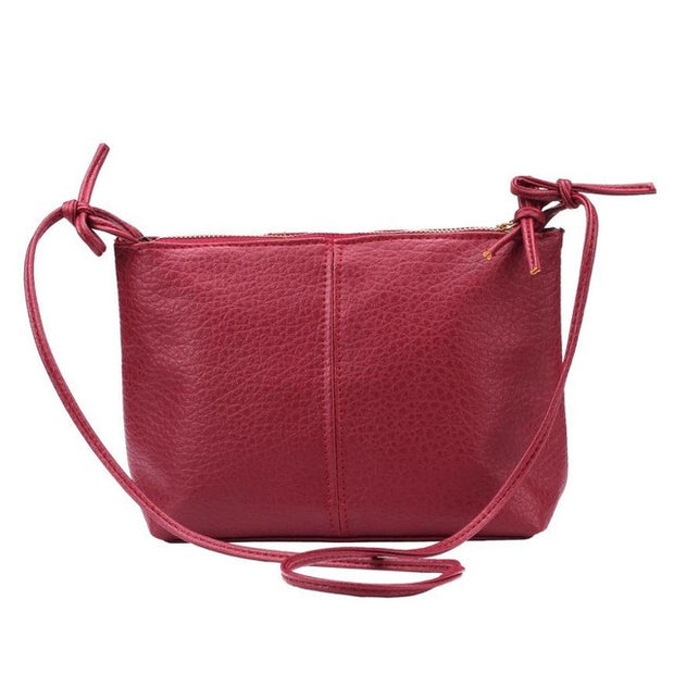 Lady Faux Leather Single Strap, Solid Zipper Shoulder Bag - The 24/7 Store