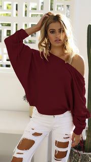 Casual Knitted Pullover Loose With O-Neck Full Shrug Solid Sweaters - The 24/7 Store