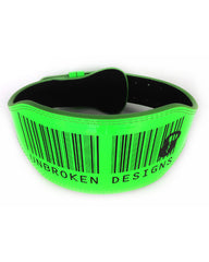 "Scan Reads Swole 6"" Fluro Green Weightlifting Belt"