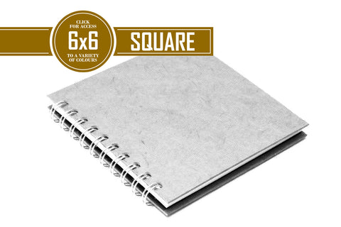 6x6 Classic Off White 150gsm Cartridge Paper 35 Leaves Square (Pack of 5)