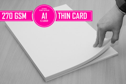 A1 270gsm Thin Card (Pack of 50 Sheets)