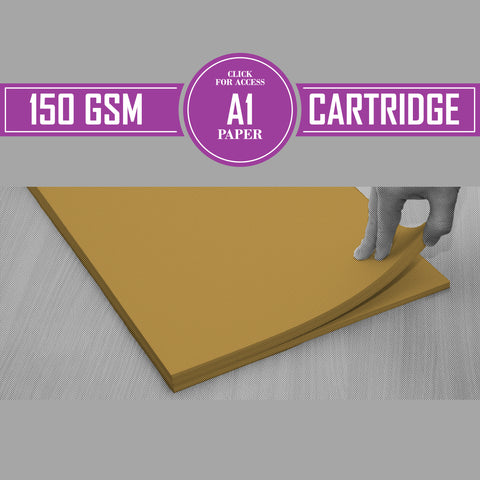 A1 150gsm Coloured Cartridge Paper (Pack of 100 Sheets)