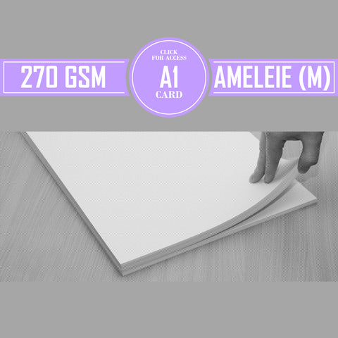 A1 270gsm Matte Ameleie Watercolour Paper (Pack of 10 Sheets)