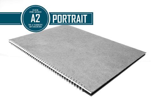 A2 Posh Thin Display Book Black 270gsm Paper 15 Leaves Portrait