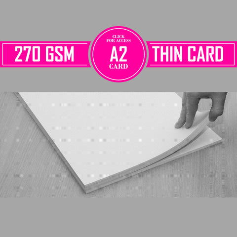 A2 270gsm Thin Card (Pack of 50 Sheets)