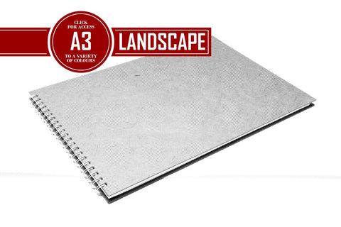 A3 Posh Landscape Sketchbook | Recycled White Cartridge, 35 Leaves | Pit Pig