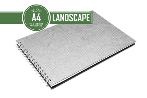 A4 Posh Landscape Sketchbook | Recycled White Cartridge, 35 Leaves | Pit Pig