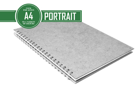 A4 Classic Patterned Notebook 80gsm Lined Paper 70 Leaves Portrait
