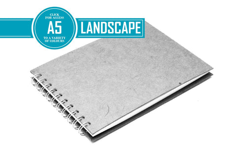 A5 Posh Landscape Sketchbook | Recycled White Cartridge, 35 Leaves | Pit Pig