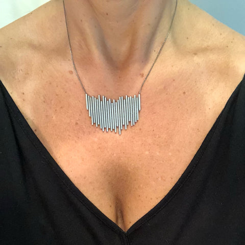 Lightning Silver Necklace