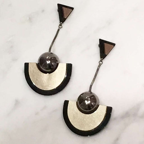 Deco Pendulum Earrings
